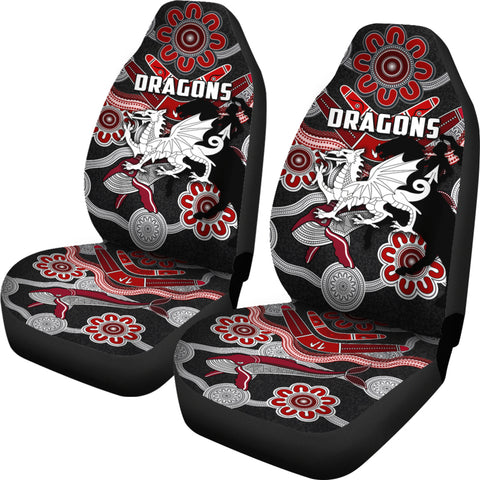 Dragons Car Seat Covers St. George Indigenous Black | Ruglylife.co
