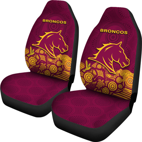 Image of Brisbane Car Seat Cover Broncos Indigenous