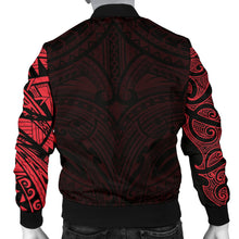 Load image into Gallery viewer, New Zealand Men's Bomber Jacket, Maori Polynesian Tattoo Red TH4 - 1st New Zealand
