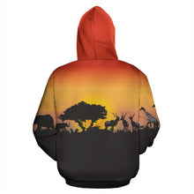 Load image into Gallery viewer, South Africa Hoodie - Sunset In South Africa | Back