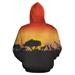 South Africa Hoodie - Sunset In South Africa | Back