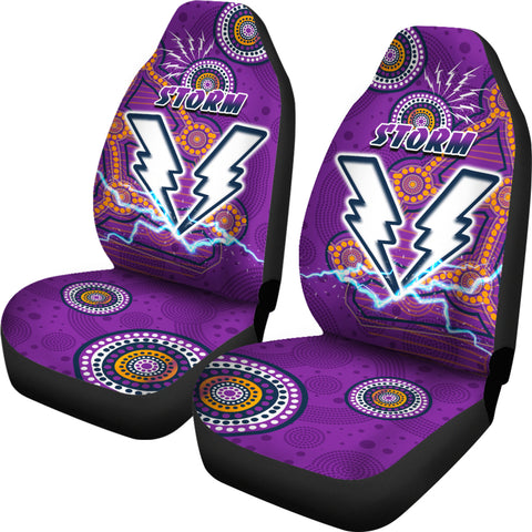Storm Car Seat Covers Melbourne Indigenous Thunder | Rugbylife.co