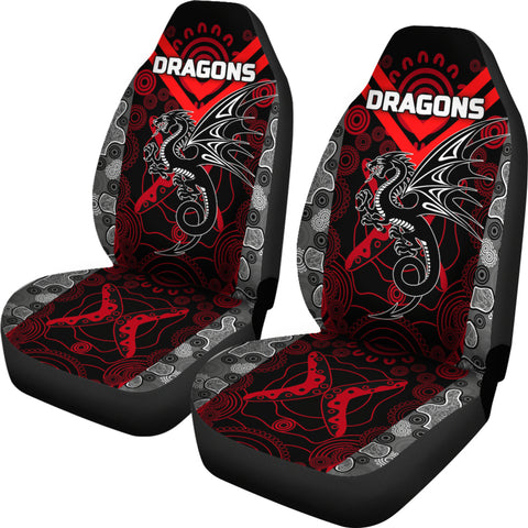 Dragons Car Seat Covers St. George Aboriginal TH6