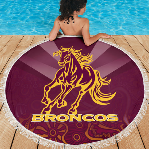 Brisbane Broncos Indigenous Beach Blanket TH5
