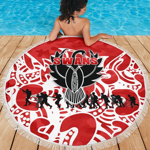 Sydney Swans Beach Blanket Anzac Day Simple Indigenous K8