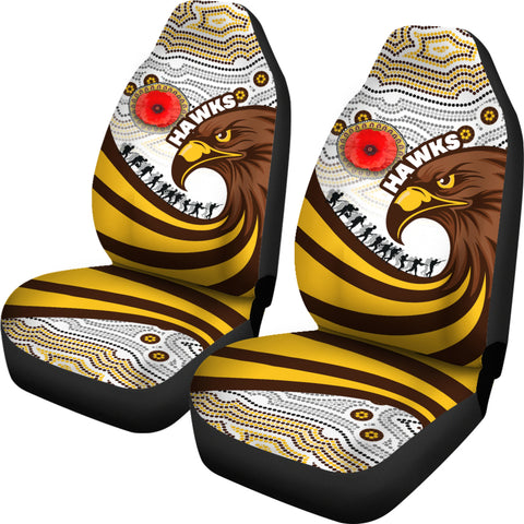 Pride Hawks Car Seat Covers Hawthorn Anzac Day Aboriginal | Rugbylife.co