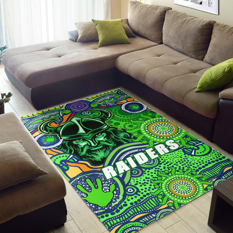 Raiders Newest Area Rug Come On Green 2 | Rugbylife.co