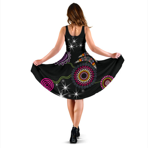 Image of No Text - Sydney Women's Dress Sixers Indigenous - Black K8