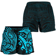 Load image into Gallery viewer, New Zealand All Over Print Women's Shorts , Maori Polynesian Tattoo Blue TH4 - 1st New Zealand