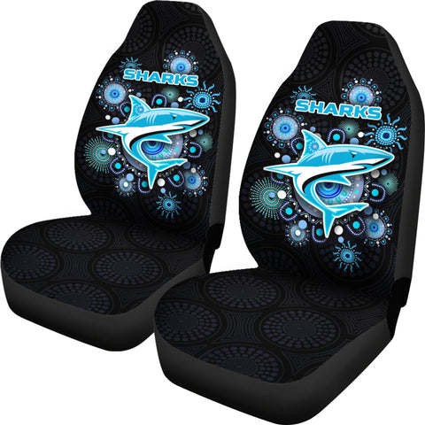 Cronulla Car Seat Covers Sharks Indigenous