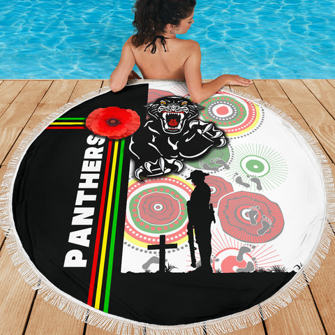 Penrith Panthers Beach Blanket Anzac Day Power Style TH12