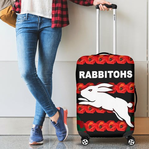 South Sydney Rabbitohs Luggage Covers Anzac Day Poppy Flower Vibes K8