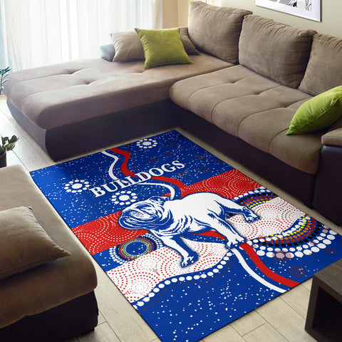 Image of Western Area Rug Bulldogs Unique Indigenous K8