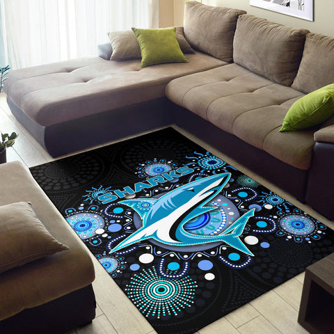 Image of Cronulla Area Rug Sharks Indigenous K8