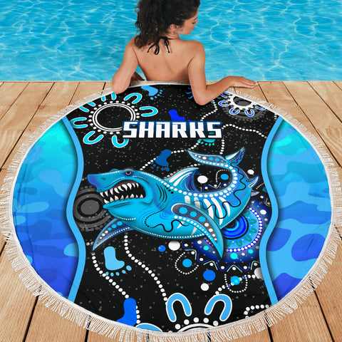Cronulla-Sutherland Beach Blanket Sharks Anzac Day Unique Indigenous K8