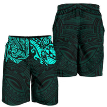 Load image into Gallery viewer, New Zealand All Over Print Men's Shorts , Maori Polynesian Tattoo Turquoise TH4 - 1st New Zealand