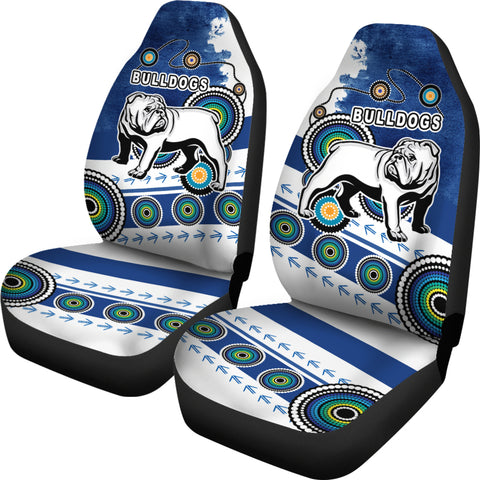 Bulldogs Car Seat Covers Special Indigenous | Rugbylife.co