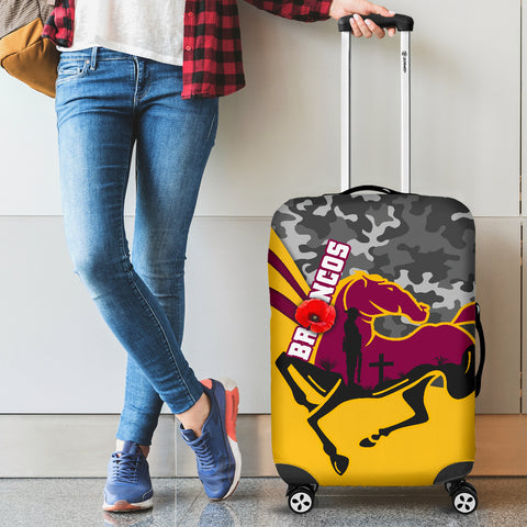 Brisbane Broncos Luggage Covers Anzac Day - Camo Style TH12