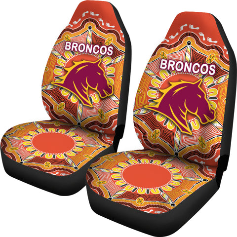 Brisbane Car Seat Covers Broncos Indigenous Warm Vibes