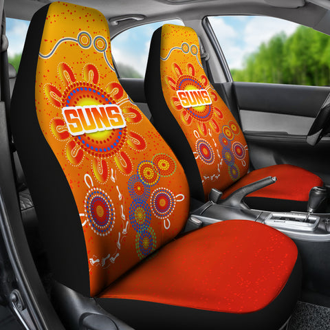 Naidoc Suns Car Seat Covers Gold Coast Indigenous Style K36