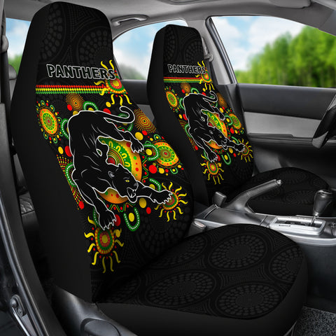 Penrith Car Seat Covers Indigenous Panthers - Black K8