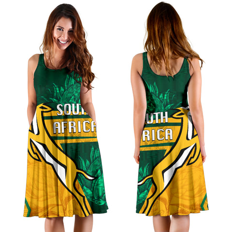 Image of South Africa Women's Dress Springboks Rugby Be Fancy K8