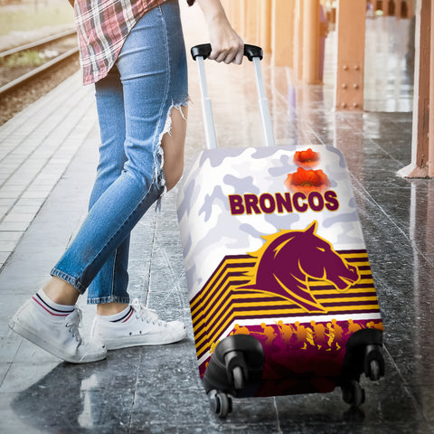 Brisbane Broncos Luggage Covers Anzac Day Simple Style - White K8