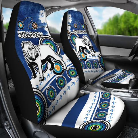 Bulldogs Car Seat Covers Special Indigenous K13