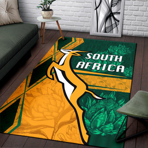 South Africa Area Rug Springboks Rugby Be Fancy K8