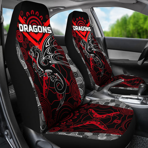 Image of Dragons Car Seat Covers St. George Aboriginal TH6