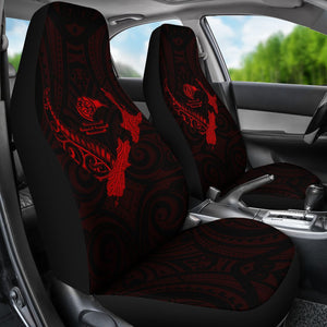 rugbylife Heart Car Seat Covers - Map Kiwi mix Silver Fern Red K4 - 1st rugbylife