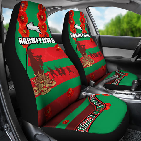 Rabbitohs Anzac Day Car Seat Covers Rugby South Sydney Indigenous Military K13