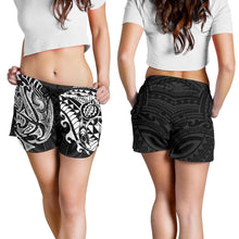 Load image into Gallery viewer, New Zealand All Over Print Women's Shorts, Maori Polynesian Tattoo White TH4 - 1st New Zealand