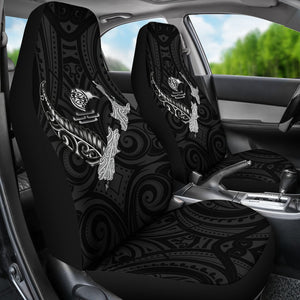 New Zealand Heart Car Seat Covers - Map Kiwi mix Silver Fern White K4 - 1st New Zealand