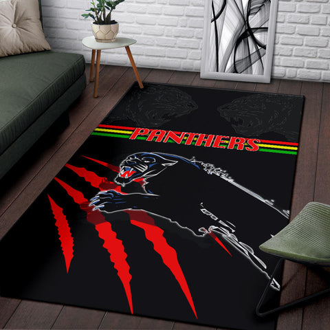 Panthers Area Rug Claws Th4