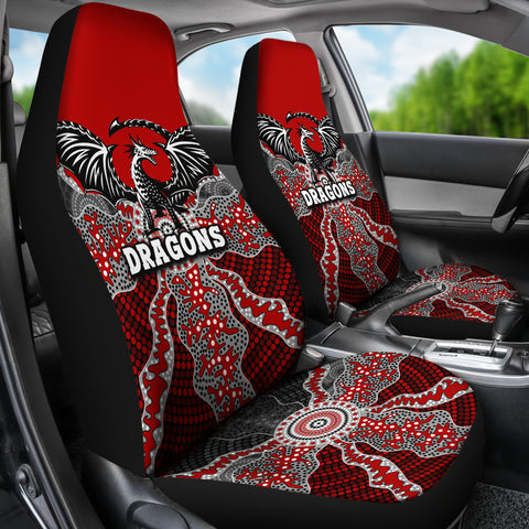 Dragons Car Seat Covers St. George Aboriginal TH12