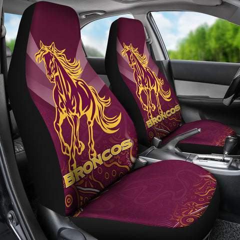 Brisbane Broncos Indigenous Car Seat Covers TH5
