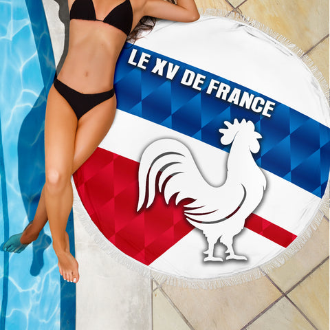 France Rugby Beach Blanket Le XV De France Sporty Style K8
