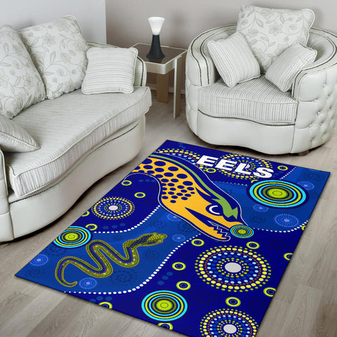 Eels Indigenous Area Rug Competitive K13