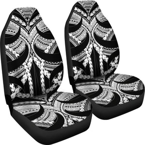 Samoan Tattoo Car Seat Covers White TH4 - 1st rugbylife