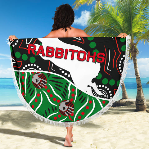 Rabbitohs Beach Blanket Aboriginal TH4