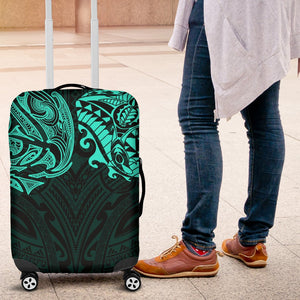 New Zealand Luggage Covers, Maori Polynesian Tattoo Turquoise TH4 - 1st New Zealand