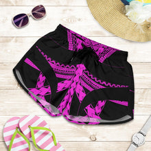 Load image into Gallery viewer, Samoan Tattoo All Over Print Women's Shorts Purple TH4 - 1st New Zealand