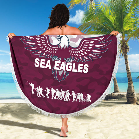Manly Warringah Beach Blanket Sea Eagles Anzac Day Camouflage Vibes K8