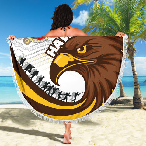 Pride Hawks Beach Blanket Hawthorn Anzac Day Aboriginal TH12