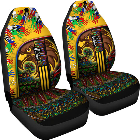 Pride Hawks Car Seat Covers Hawthorn Naidoc Week Aboriginal Version Special | Rugbylife.co