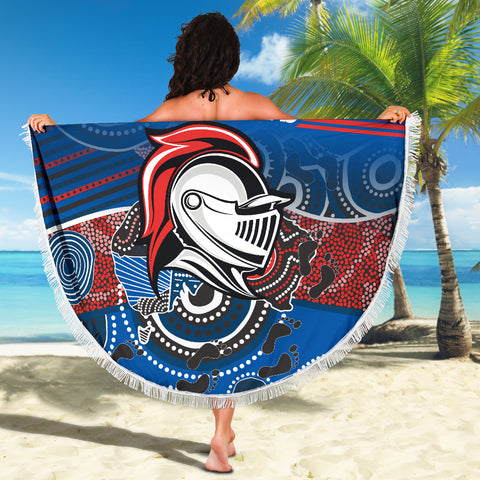 Knights Beach Blanket Newcastle Aboriginal Horizontal Style TH12