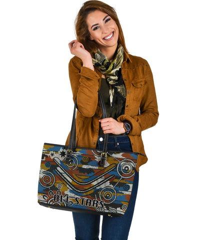 Indigenous All Stars Large Leather Tote TH6