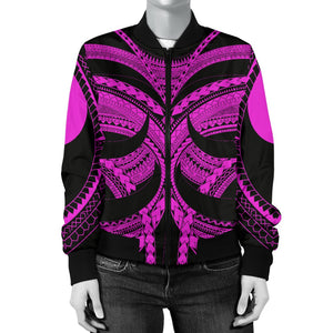 Samoan Tattoo Women's Bomber Jacket Purple TH4 - 1st New Zealand