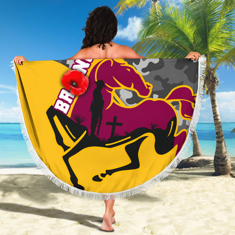 Brisbane Broncos Beach Blanket Anzac Day - Camo Style TH12